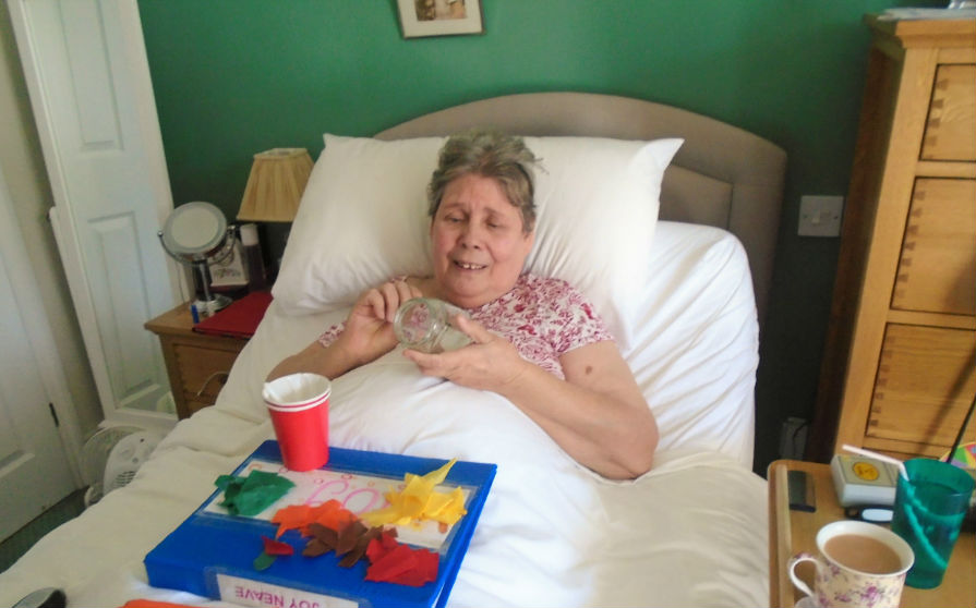 Inglefield Nursing Home Residents Make Lovely Lanterns
