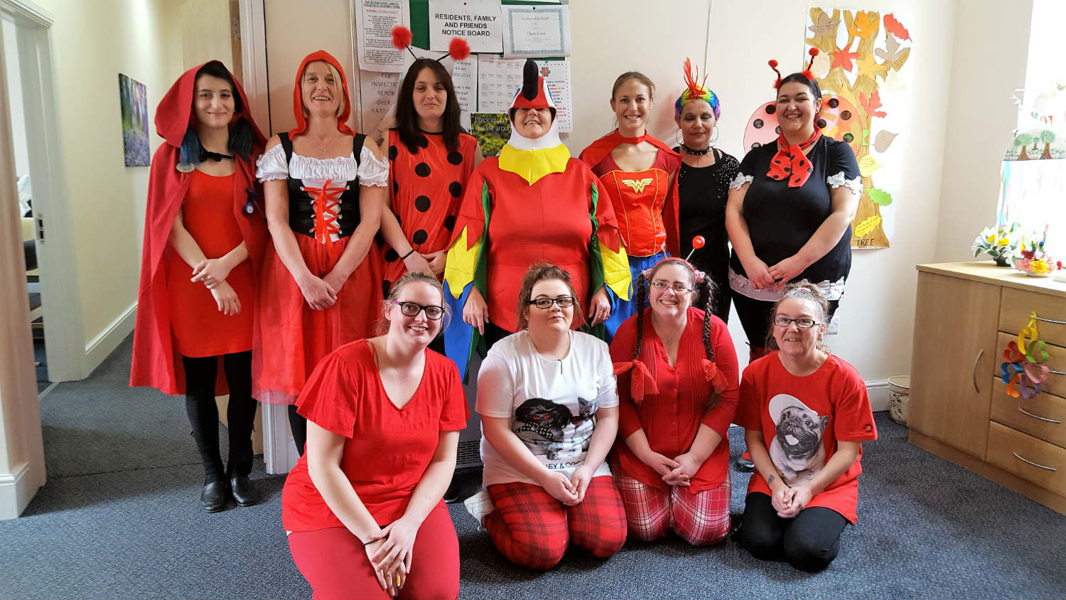 Inglefield Nursing Home Dresses Up For Comic Relief