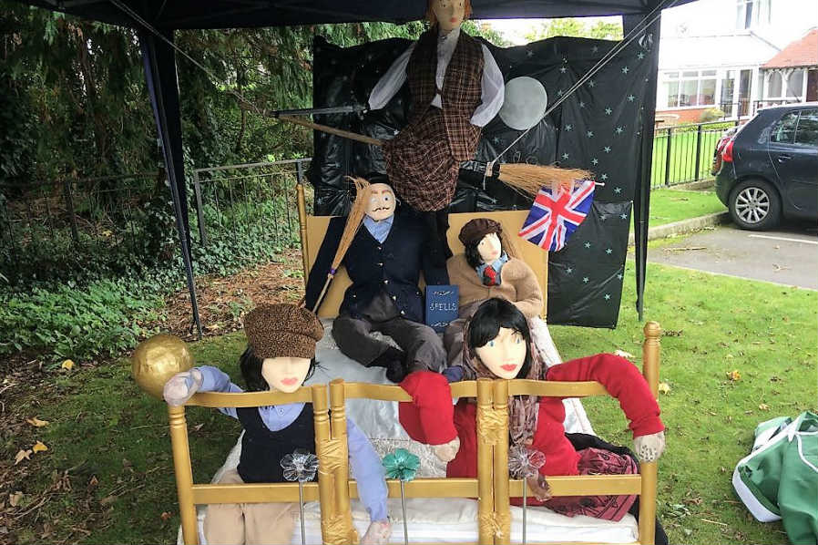 The Orchards Residential Home Take Home Wroughton's Scarecrow Trail Trophy Again!