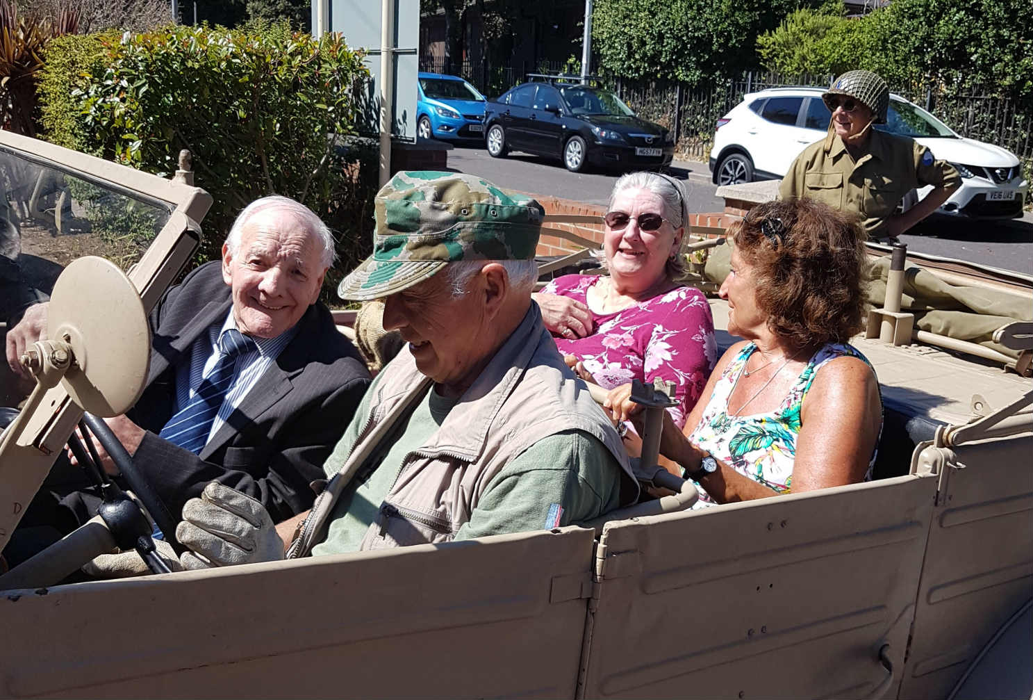 The War Cars Visit Kingland House