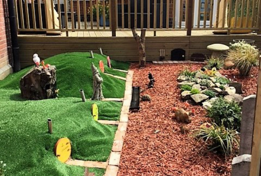 Themed Hobbit Garden Finished At Brunswick House