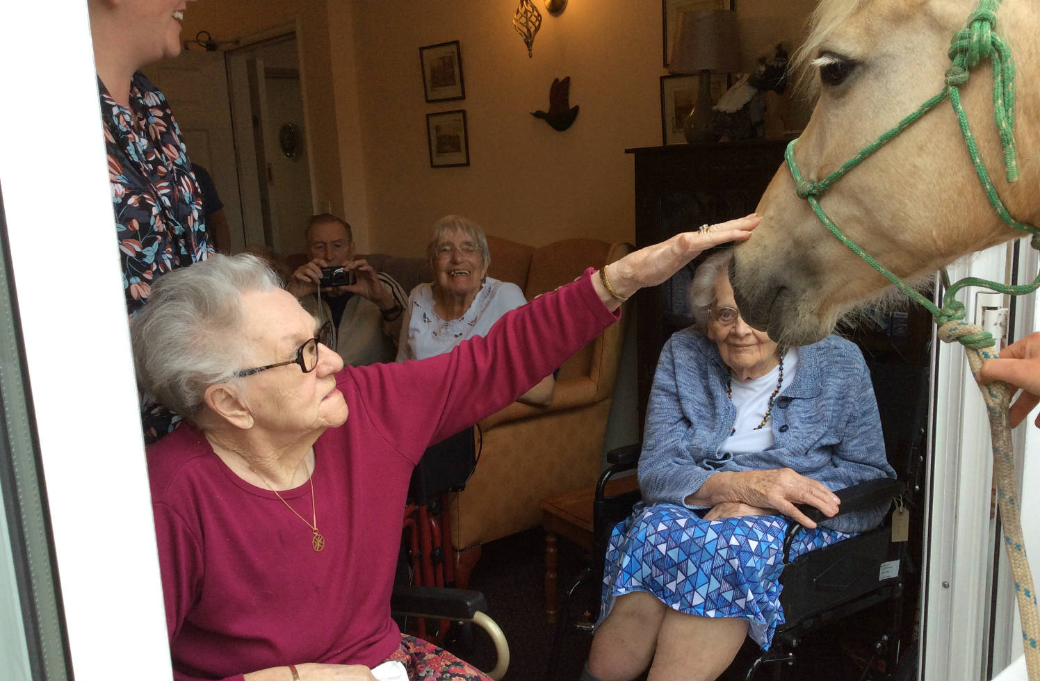 Blackwater Mill's Residents Get A Surprise Visit