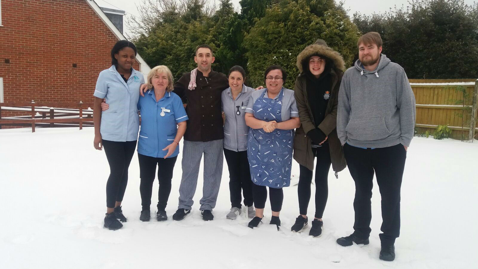 Kingland's 'A Team' Battles The Snow To Get To Work!