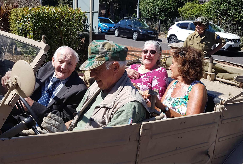 The War Cars Visit Kingland House