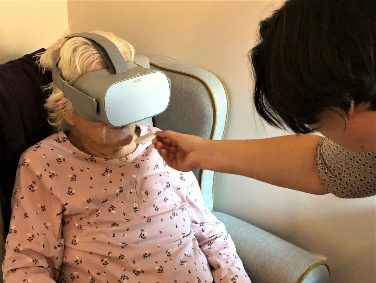 Inglefield Residents Enjoy A 'Great Escape' With Virtual Reality